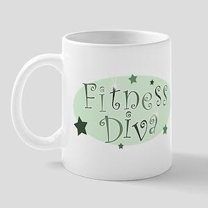 """Fitness Diva"" [green] Mug"